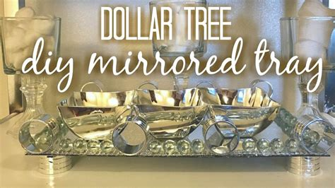 how to decorate a dollar tree diy mirrored tray home decor youtube