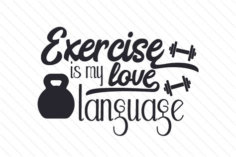 exercise   love language svg cut file  creative