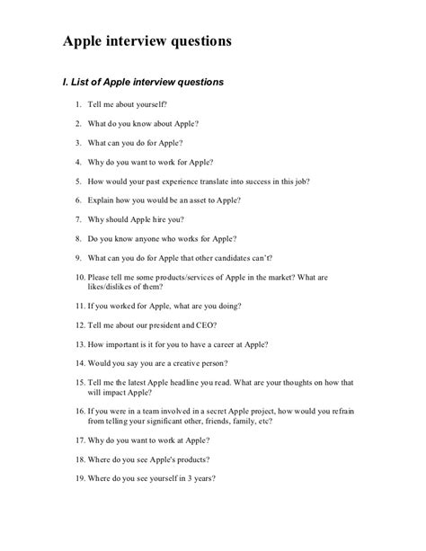 apple questions apple interview questions