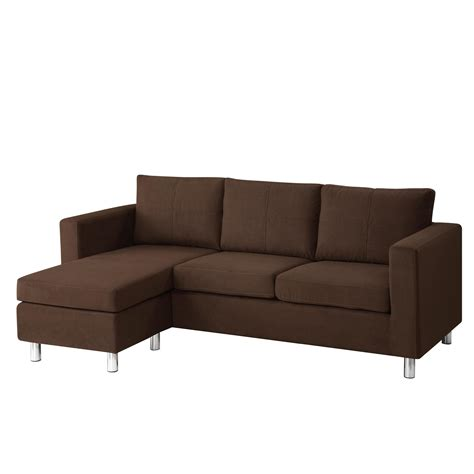 astonishing modern minimalist brown color small sectional