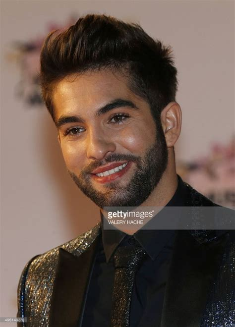 french singers 2015 french singer kendji girac poses on the red carpet upon