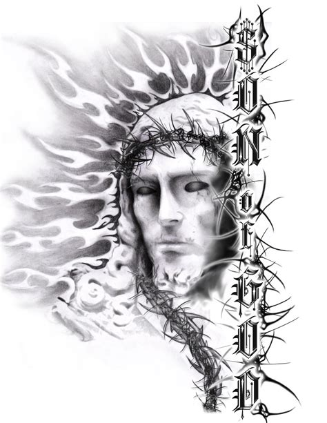 tribal jesus tattoo jesus tattoos designs ideas and meaning tattoos for you