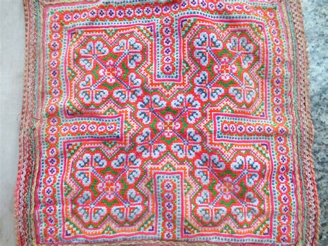 Handcrafted Textiles - vintage hmong fabric handmade fabrics handmade tapestry