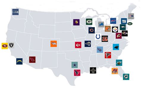 nfl usa map nfl stadiums map gallery