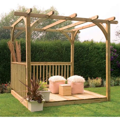 8 2 quot x 8 ft 2 5 x 2 5m wooden garden pergola and patio