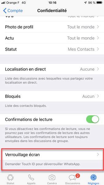 whatsapp ios permet maintenant de prot233ger ses
