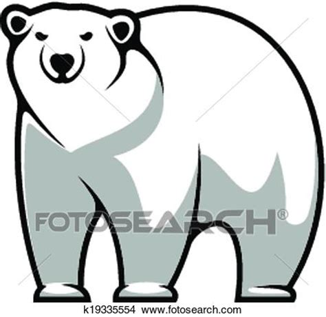 disegni cerca clipart clipart cartone animato orso polare k19335554 cerca