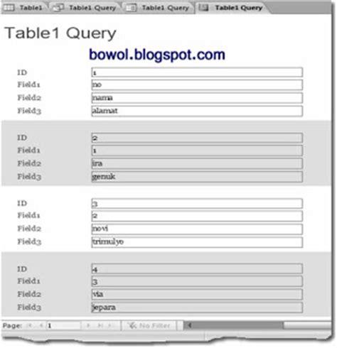 cara membuat query form dan report kreasi dalam belajar cara membuat tabel form dan report