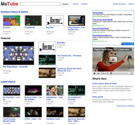 theme wordpress video youtube free youtube like wordpress theme for video blogging