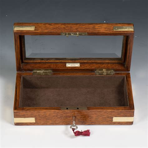 rectangular beveled glass top army navy c s l a small edwardian rectangular oak
