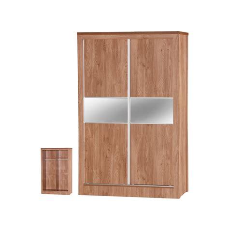 Oak Mirrored Sliding Wardrobe Doors by Oak Sliding Mirrored Wardrobe Ark Furniture