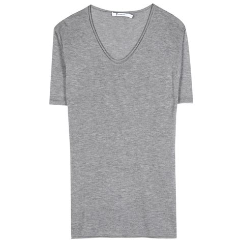 knitting t shirts t by wang knit t shirt in gray lyst