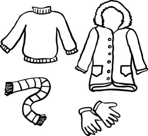 winter clothes coloring page clothing coloring pages