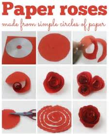How To Make Small Roses With Paper - 25 best ideas about paper roses on diy paper