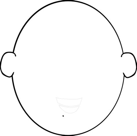 face outline template clipart best