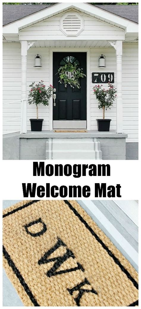 Monogram Welcome Mat Monogram Welcome Mat Welcome Mats Front Porches And