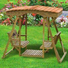deluxe double outdoor swing  roof option woodworking