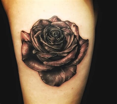dark rose tattoos collection of 25 black
