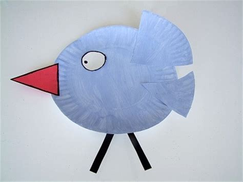 Bird Paper Plate Craft - bird crafts for we this paper plate bird craft