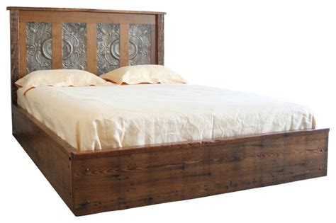 reclaimed wood queen bed reclaimed wood and victorian ceiling queen platform bed