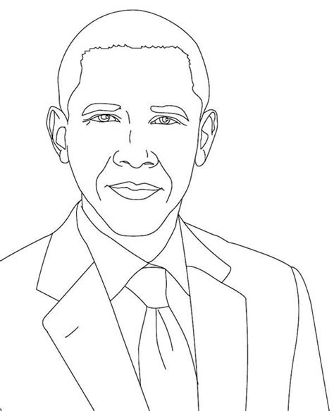barack obama coloring page pdf barack obama coloring page getcoloringpagescom sketch