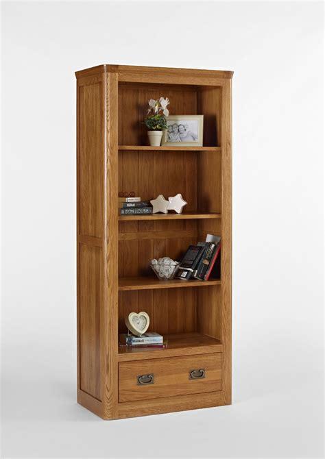Bookcase Drawers by Knightsbridge Oak Large Bookcase With Drawer Oak