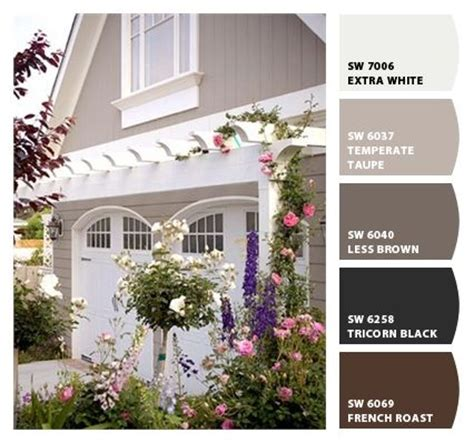 exterior colors taupe and garage on
