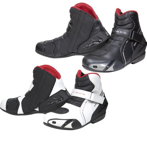 black moto boots short black circuit short ankle motorcycle sports bike motorbike