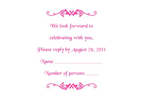 rsvp by cards template response card templates 1 and 2