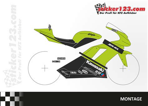 Racing Aufkleber Set by Sticker123