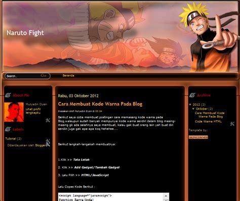 templates blogger naruto download template naruto fight arista blog