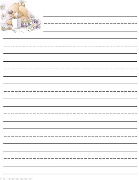 downloadable writing paper printable writing paper for kindergarten free general