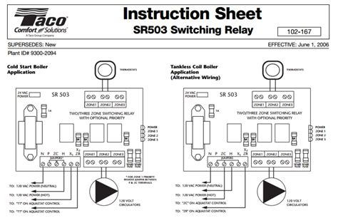 taco sr501 wiring diagram 3 wire zone valve wiring diagram