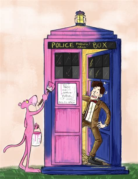 painting pink panther phalek doctor who your meme