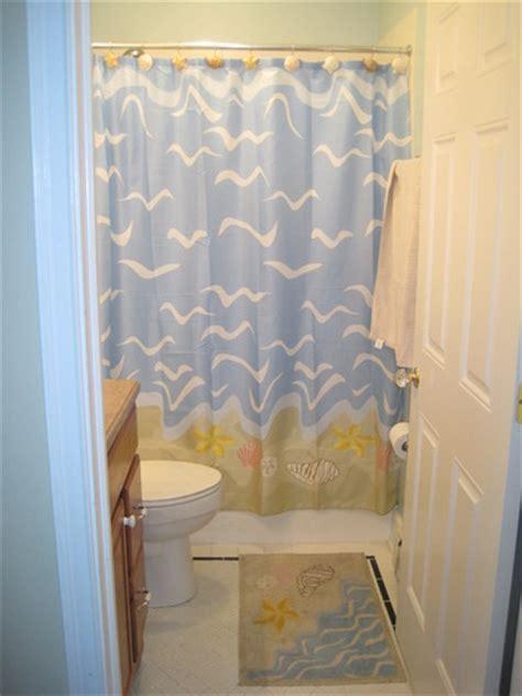 beach themed bathroom shower curtains amazon com seashell beach nautical theme shower curtain