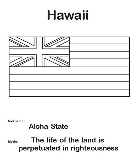 usa printables state of hawaii coloring pages hawaii