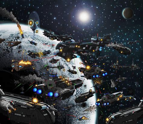 Star Wars Wall Murals star wars space battle wallpaper wallpapersafari