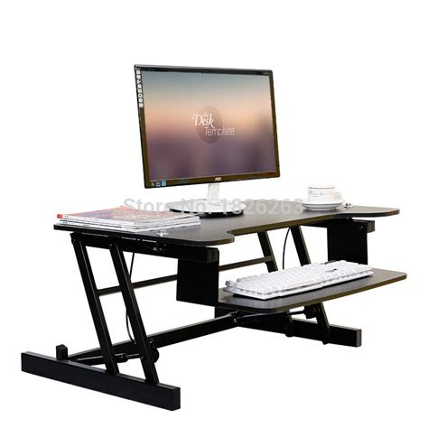 Cheap Sit Stand Desk Ergonomic Easyup Height Adjustable Sit Stand Desk Riser Foldable Laptop Desk Stand With Keyboard