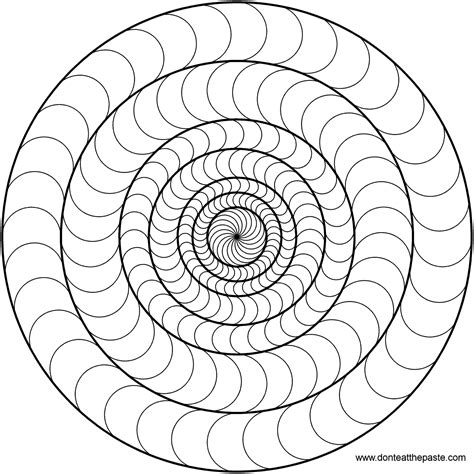 Don T Eat The Paste Circles Mandala To Color Mandala Circles Coloring Pages