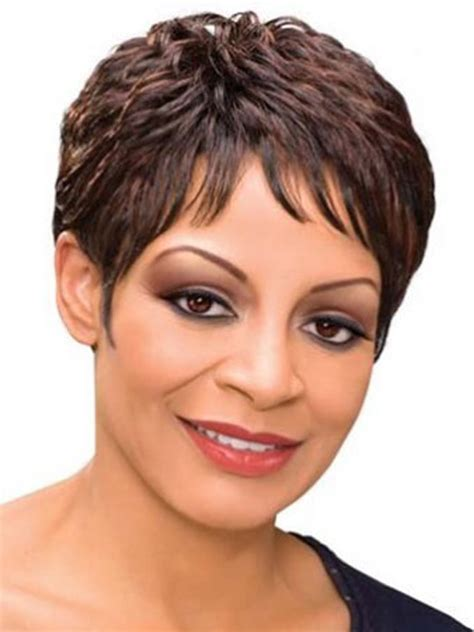 silver fox wigs for women over 50 short spikey wigs for african american women image short