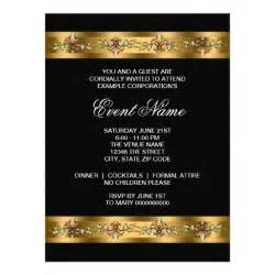 Business Party Invitation Template Black And Gold Corporate Party Event Template 6 5x8 75