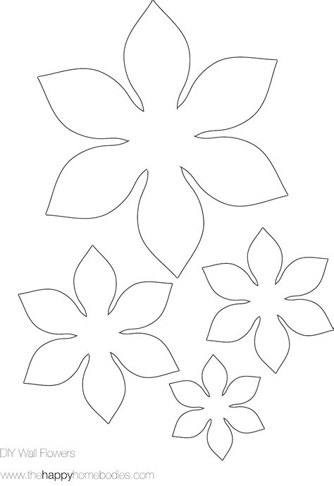 paper flower cut out template flower template on