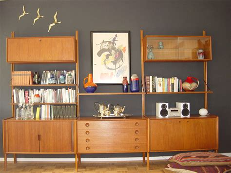 Bookcase Bedroom Set Mid Century Modern Teak Shelving Unit On Life And Lava