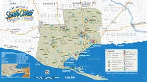 norfolk county tourist map norfolk ontario mappery