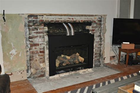 fireplace demo and new gas insert happening house updated