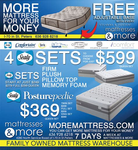 Mattress More by Mattresses More 187 Free Adjustable Base With Every