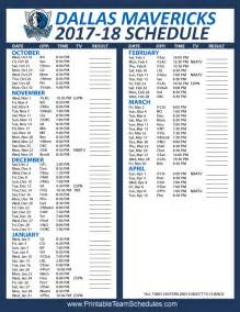 dallas mavericks home schedule printable dallas mavericks 2017 2018 schedule