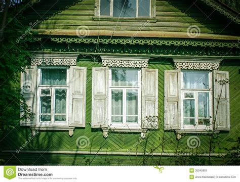 country style windows russia stock image image 35045801