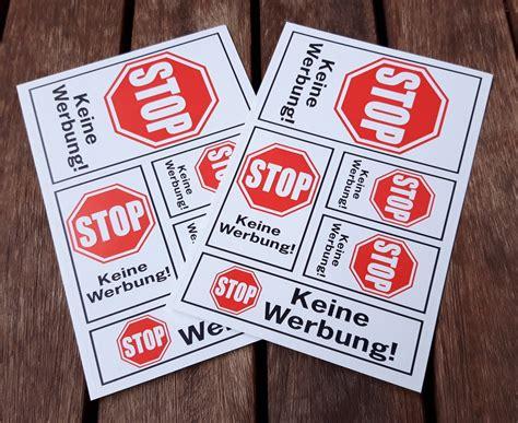 Keine Werbung Nur Liebesbriefe Aufkleber by Bestellen Sie Die Aufklebersets Gegen Unerw 252 Nschte Werbung