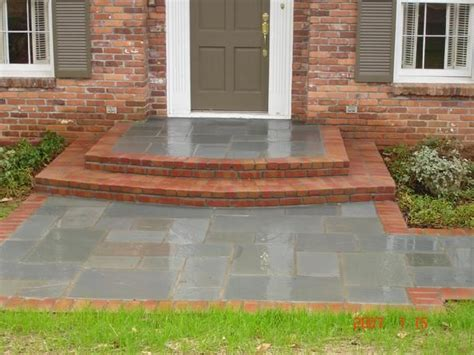 bluestone brick front entrance steps masonry patios 17 best images about front steps on pinterest outdoor